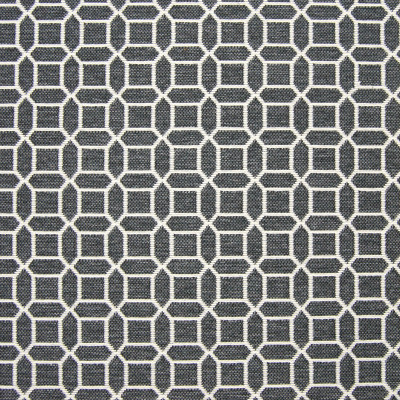 B7835 Slate Fabric: E01, DARK GRAY GEOMETRIC, OCTOGON, DARK GREY GEOMETRIC, CHARCOAL, SLATE, PERFORMANCE FABRICS, REVOLUTION PERFORMANCE FABRICS, REVOLUTION FABRICS, BLEACH CLEANABLE, STAIN RESISTANT,WOVEN
