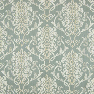 B7862 Serenity Fabric: E02, SPA MEDALLION, LARGE SCALE FLORAL, LARGE SCALE MEDALLION, LIGHT BLUE MEDALLION, LARGE SCALE SCROLL, PERFORMANCE FABRICS, REVOLUTION PERFORMANCE FABRICS, REVOLUTION FABRICS, BLEACH CLEANABLE, STAIN RESISTANT,WOVEN