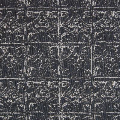 B7917 Sapphire Fabric: E02, NAVY, VINTAGE, TILE, GEOMETRIC, GEOMETRIC TILE, PERFORMANCE FABRICS, REVOLUTION PERFORMANCE FABRICS, REVOLUTION FABRICS, BLEACH CLEANABLE, STAIN RESISTANT,WOVEN