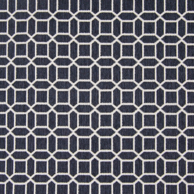B7919 Cadet Fabric: E02, MID-SCALE, GEOMETRIC, LATTICE, NAVY, PERFORMANCE FABRICS, REVOLUTION PERFORMANCE FABRICS, REVOLUTION FABRICS, BLEACH CLEANABLE, STAIN RESISTANT