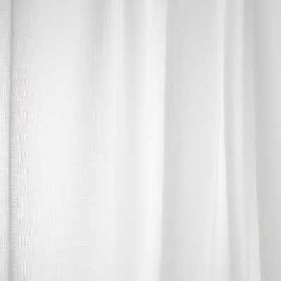 B7937 Winter Fabric: E03, INHERENTLY FIRE RETARDANT, IFR, FIRE RESISTANT, SOLID, METALLIC, WHITE, WINDOW, SHEER
