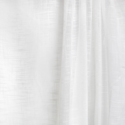 B7940 Eggshell Fabric: E03, INHERENTLY FIRE RETARDANT, IFR, FIRE RESISTANT, SHEER, WINDOW, FAUX LINEN, CREAM, SOLID