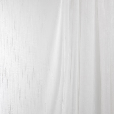B7944 Parchment Fabric: E03, INHERENTLY FIRE RETARDANT, IFR, FIRE RESISTANT, FAUX LINEN, TEXTURE, SHEER, WINDOW, OFF WHITE, STRIPE