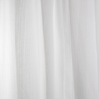 B7947 Snow Fabric: E03, INHERENTLY FIRE RETARDANT, IFR, FIRE RESISTANT, WOVEN WHITE SHEER, WHITE SHEER