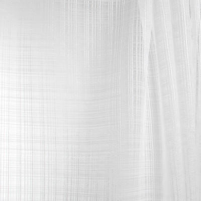 B7949 Snow Fabric: E03, INHERENTLY FIRE RETARDANT, IFR, FIRE RESISTANT, WHITE WOVEN SHEER, WHITE STRIPED SHEER, SHIMMERY WHITE SHEER