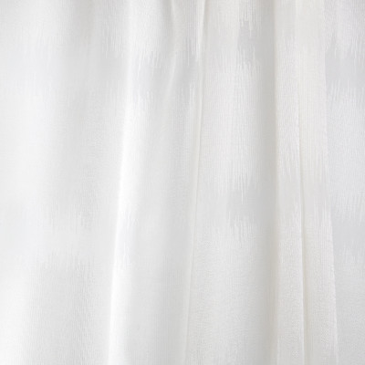 B7954 Shore Fabric: E03, INHERENTLY FIRE RETARDANT, IFR, FIRE RESISTANT, WHITE WOVEN SHEER, WHITE STRIPED SHEER, SHIMMERY WHITE SHEER