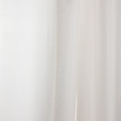 B7955 Ivory Fabric: E03, INHERENTLY FIRE RETARDANT, IFR, FIRE RESISTANT, FAUX LINEN, WOVEN IVORY SHEER, CHAMPAGNE SHEER, SOLID IVORY SHEER