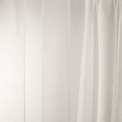 B7956 Parchment Fabric: E03, INHERENTLY FIRE RETARDANT, IFR, FIRE RESISTANT, FAUX LINEN, SHEER, WINDOW, STRIPE, PARCHMENT. CREAM