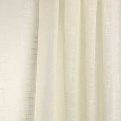 B7957 Champagne Fabric: E03, INHERENTLY FIRE RETARDANT, IFR, FIRE RESISTANT, IVORY SHEER, FAUX LINEN SHEER, LINEN LIKE SHEER, IVORY, CREAM