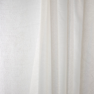 B7958 Snow Fabric: E03, INHERENTLY FIRE RETARDANT, IFR, FIRE RESISTANT, STRIPE, TEXTURE, SHEER, WINDOW, CHAMPAGNE