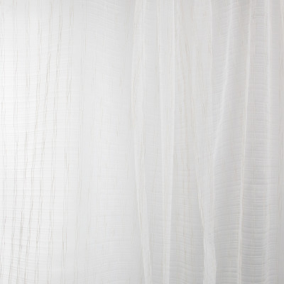 B7966 Parchment Fabric: E03, INHERENTLY FIRE RETARDANT, IFR, FIRE RESISTANT, STRIPE, TEXTURE, SHEER, WINDOW, NEUTRAL