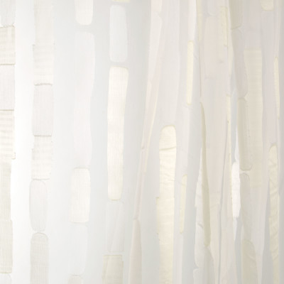B7967 Khaki Fabric: E03, INHERENTLY FIRE RETARDANT, IFR, FIRE RESISTANT, METALLIC STRIPED SHEER, CONTEMPORARY SHIMMERY SHEER, CHAMPAGNE STRIPED SHEER