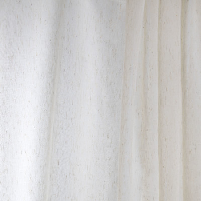 B7968 Linen Fabric: E03, INHERENTLY FIRE RETARDANT, FIRE RESISTANT, IFR.FAUX LINEN, NATURAL, SHEER, WOVEN, SOLID