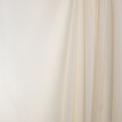 B7970 Tea Stain Fabric: E03, INHERENTLY FIRE RETARDANT, FIRE RESISTANT, IFR, CREAM, SOLID, SHEER, WINDOW