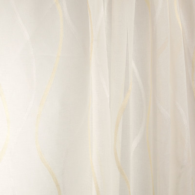 B7972 Natural Fabric: E03, INHERENTLY FIRE RETARDANT, FIRE RESISTANT, IFR, CONTEMPORARY WAVY SHEER, GOLD WAVY SHEER, SHIMMERY WAVY SHEER