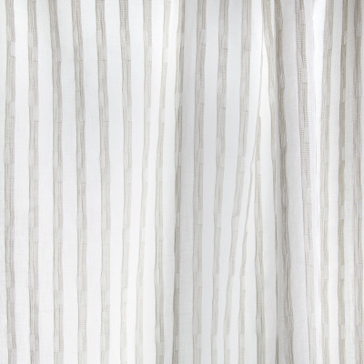 B7977 Smoke Fabric: E03, INHERENTLY FIRE RETARDANT, FIRE RESISTANT, IFR, STRIPE, TEXTURE, GRAY, SHEER, WINDOW