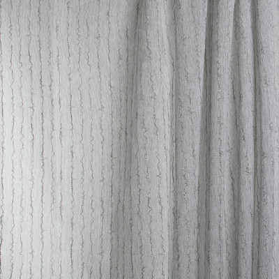 B7985 Platinum Fabric: E03, INHERENTLY FIRE RETARDANT, FIRE RESISTANT, IFR, TEXTURE, STRIPE, GRAY, SHEER, WINDOW