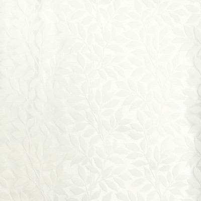 B8006 Cloud Fabric: E04, FOLIAGE, WHITE FOLIAGE, LEAFY WHITE, WHITE LEAVES, WOVEN LEAVES, FLORAL