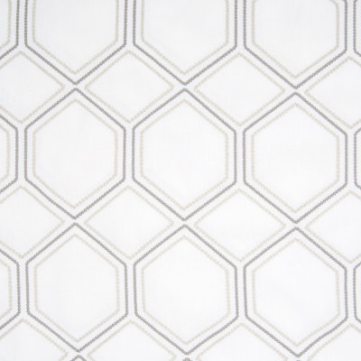 B8007 Smoke Fabric: E04, GEOMETRIC, LATTICE, EMBROIDERY, NEUTRAL, WINDOW
