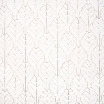 B8010 Ivory Fabric: E04, IVORY LEAF, LEAFY APPLIQUE, LEAF APPLIQUE, FOLIAGE, FLORAL,LATTICE