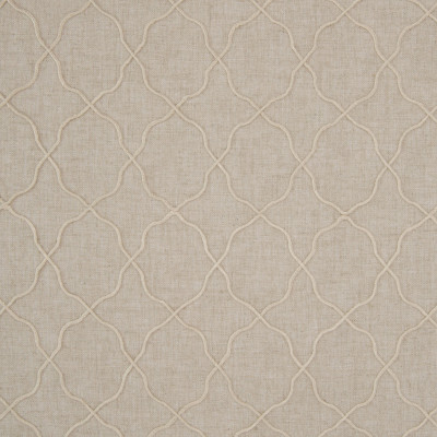 B8021 Linen Fabric: E04, ROPE EMBROIDERY, NATURAL, GEOMETRIC, EMBROIDERY, NAUTICAL, FAUX LINEN, WINDOW, DRAPERY