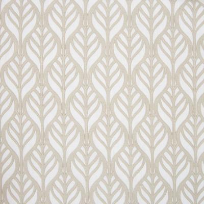 B8022 Beige Fabric: E04, NATURAL LEAF, LEAFY APPLIQUE, FOLIAGE APPLIQUE, LEAVES, LATTICE APPLIQUE