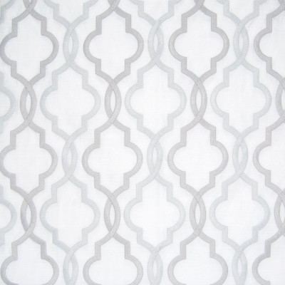 B8037 Platinum Fabric: E04, LATTICE, EMBROIDERY, SILVER, PLATINUM, GEOMETRIC, SATIN, WINDOW, DRAPERY