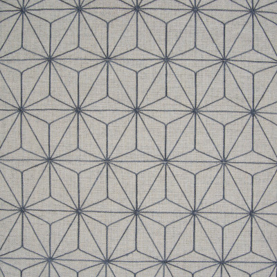 B8042 Zinc Fabric: E04, GEOMETRIC, EMBROIDERY, NATURAL, GRAY, FAUX LINEN
