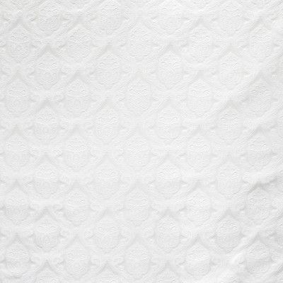 B8120 Swan Fabric: E06, MEDALLION, SCROLL, JACQUARD, SATIN, WOVEN, WHITE