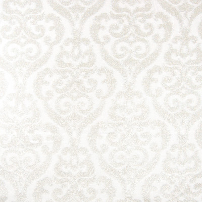 B8121 Ice Fabric: E06, WHITE SCROLL DAMASK, LARGE MEDALLION DAMASK, MEDALLION DAMASK, SNOW WHITE,WOVEN