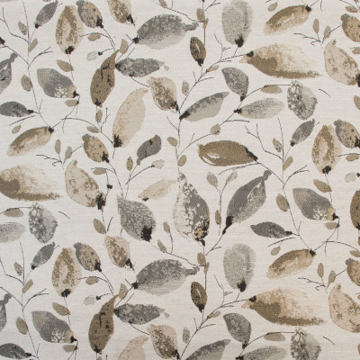 B8145 Smoke Fabric: E06, LEAF, FOLIAGE, JACQUARD, NEUTRAL, GRAY, GREY, NEUTRAL AND GRAY, WOVEN