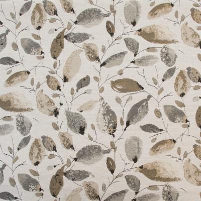 B8145 Smoke Fabric: E06, LEAVES, GRAY LEAVES, NEUTRAL LEAVES, FLORAL,FOLIAGE