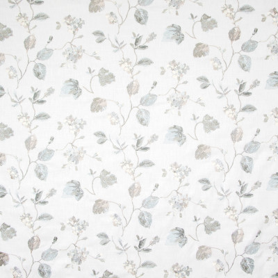 B8160 Tundra Fabric: E07, SILVER EMBROIDERY, GRAY EMBROIDERY, GRAY FLORAL EMBROIDERY, SILVER FLORAL EMBROIDERY, SHIMMERY GRAY EMBROIDERY