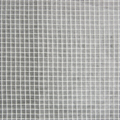 B8161 Zinc Fabric: E07, GRAY CHENILLE, GEOMETRIC CHENILLE, GREY CHENILLE, SQUARES, WARM GRAY CHENILLE, WOVEN