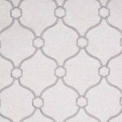 B8187 Silver Fabric: E07, GRAY OGEE, GREY OGEE LATTICE, OGEE EMBROIDERY, LATTICE EMBROIDERY, LIGHT GRAY EMBROIDERY