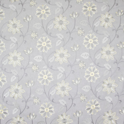 B8189 Pearl Fabric: E07, GRAY FLORAL EMBROIDERY, FLORAL, GREY FLORAL EMBROIDERY, LIGHT FLORAL GRAY, LIGHT FLORAL GREY