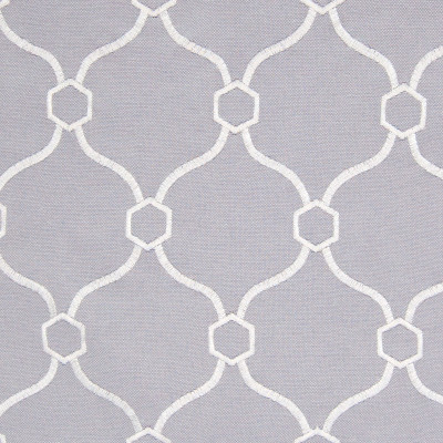 B8192 Pewter Fabric: E07, GRAY OGEE EMBROIDERY, GREY OGEE EMBRIODERY, LATTICE EMBROIDERY, PEWTER EMBROIDERY