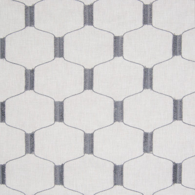 B8195 Platinum Fabric: E07, FIL COUPE EMBROIDERY, GEOMETRIC EMBROIDERY, GREY GEOMETRIC, GRAY GEOMETRIC, LATTICE EMBROIDERY