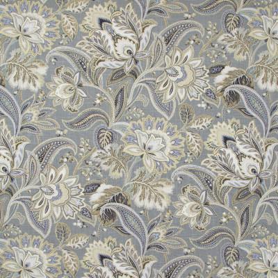 B8199 Platinum Fabric: E07, LARGE SCALE FLORAL PRINT, LINEN PRINT, GRAY METALLIC PRINT, GRAY AND GOLD PRINT, GRAY, GREY, GOLD