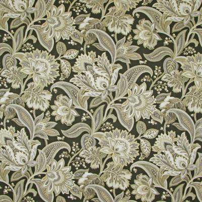 B8207 Lava Fabric: E07, LARGE SCALE FLORAL PRINT, BLACK FLORAL PRINT, METALLIC PRINT, FLORAL METALLIC PRINT