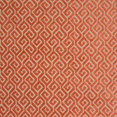 B8252 Tangerine Fabric: E08, TANGERINE, PERSIMMON, ORANGE GEOMETRIC, ORANGE GREEK KEY, PATTERNED CHENILLE, WOVEN