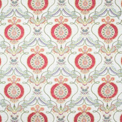 B8254 Gemstone Fabric: E08, RED MEDALLION PRINT, RED FLORAL PRINT, RED SCROLL PRINT, RED COTTON PRINT, MEDIUM SCALE PRINT