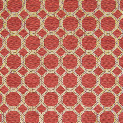 B8256 Bittersweet Fabric: E08, RED GEOMETRIC, RED OCTAGON, PINKISH RED GEOMETRIC, CHAIR SCALED GEOMETRIC, SMALL SCALED GEOMETRIC,WOVEN