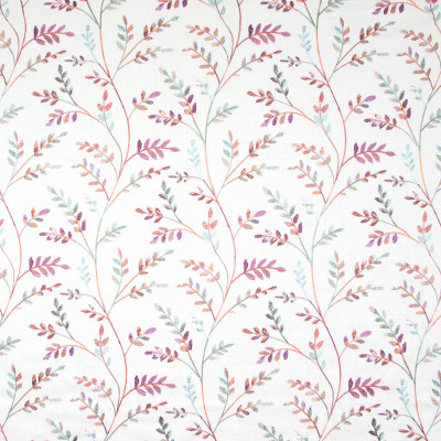 B8261 Persimmon Fabric: E08, FLORAL EMBROIDERY, PURPLE, BLUSH, MULTICOLORED FLORAL EMBROIDERY, PURPLE FLORAL EMBROIDERY, LEAF EMBROIDERY, LEAVES, FOLIAGE