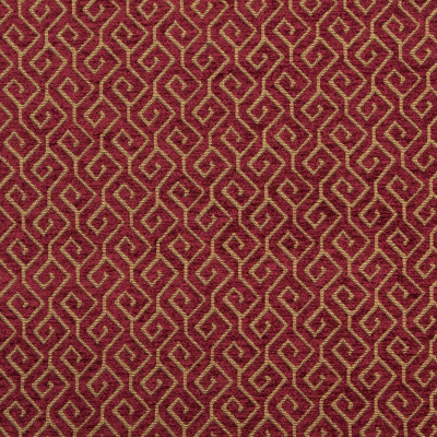 B8263 Spice Fabric: E08, RED GEOMETRIC, RED LATTICE, CHENILLE, PATTERNED CHENILLE, CHAIR SCALE GEOMETRIC, SMALL SCALE GEOMETRIC, WOVEN