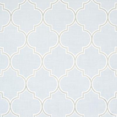 B8281 Aqua Fabric: E09, SPA BLUE LATTICE, OGEE, SPA BLUE OGEE, EMBROIDERY, OGEE EMBROIDERY, LATTICE EMBROIDERY