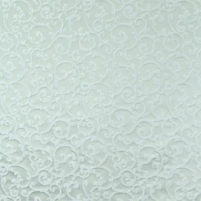 B8284 Spa Fabric: E09, SPA BLUE SCROLL, JACQUARD SCROLL, SEAGLASS BLUE SCROLL, DAMASK SCROLL