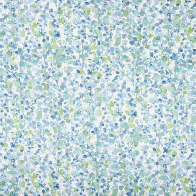 B8285 Dew Drop Fabric: E09, FLORAL PRINT, BLUE FLORAL, COTTON PRINT, WATERCOLOR PRINT, SEAGLASS BLUE