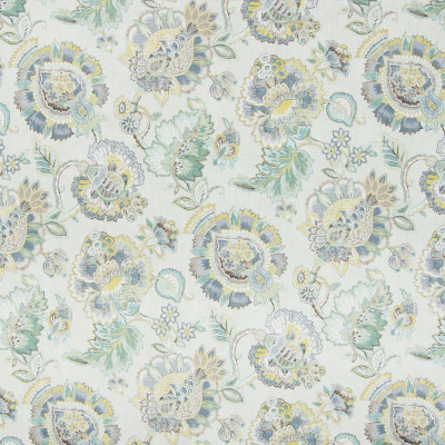 B8290 Silver Bell Fabric: E09, LARGE SCALE FLORAL PRINT, SEAGLASS COLORS, TEAL, ISLAND BLUE, COTTON PRINT FLORAL