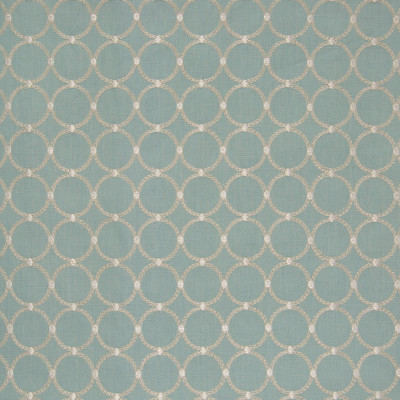 B8295 Moonstone Fabric: E09, AQUA METALLIC EMBROIDERY, CIRCLE EMBROIDERY, GEOMETRIC EMBROIDERY, METALLIC, SHIMMERY EMBROIDERY